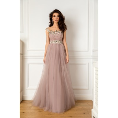 Rochie lunga din tulle hayal